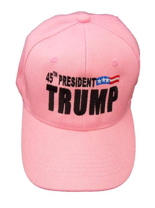 45th President Trump Cap - Pink