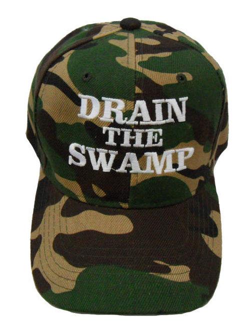 Drain the Swamp Cap - Green Camo