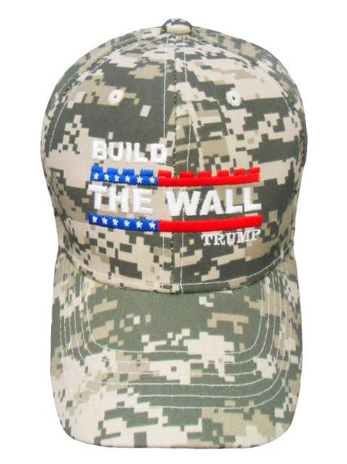 Build The Wall Trump Cap - Digital Camo