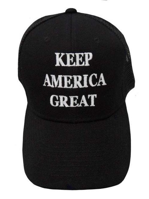 Keep America Great Mesh Cap - Black