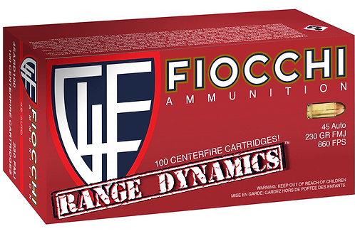 Fiocchi 45ARD100 Range Dynamics 45 ACP 230 gr Full Metal Jacket (FMJ) 100/Box