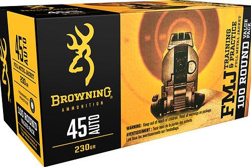Browning Ammo Training & Practice 45 ACP 230 gr Full Metal Jacket 100/Box