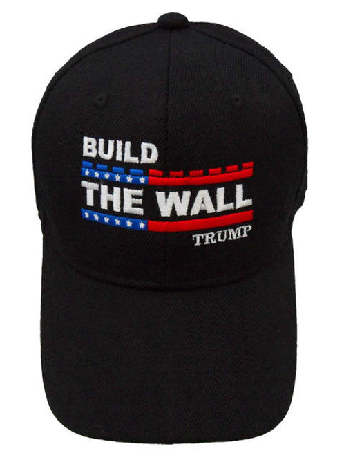 Build The Wall Trump Cap - Black