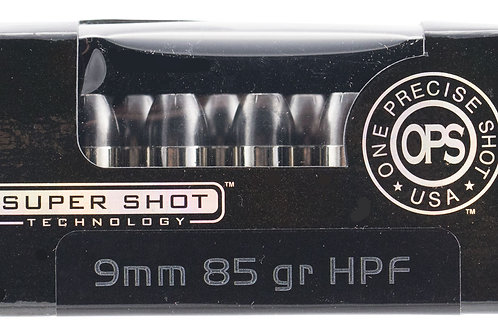 Ammo Inc 9085HPF OPS 9mm Luger 85 gr Hollow Point (HP) 20/Box