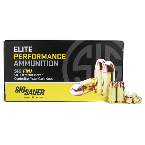 Sig Sauer E40SB250 Elite Ball 40 S&W 180 gr Full Metal Jacket (FMJ) 50/Box