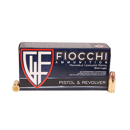 Fiocchi 9FRANG Shooting Dynamics 9mm Luger 100 gr Non-Tox Frangible 50/Box