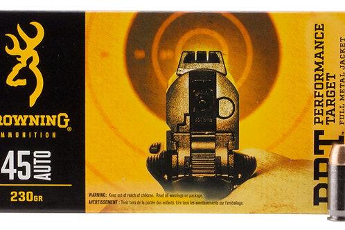 Browning Ammo B191800451 BPT 45 ACP 230 gr Full Metal Jacket (FMJ) 50/Box