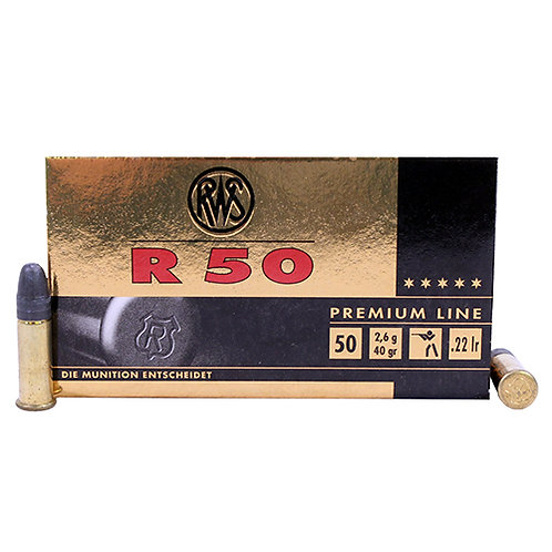 Walther Arms 2318602 R50 Short Case 22 LR 40 gr Lead Hollow Point (LHP) 50/Box