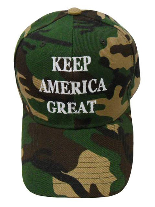 Keep America Great Cap - Green Camo