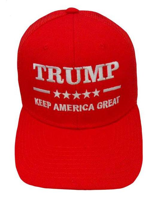 Trump Keep America Great Mesh Cap - Red