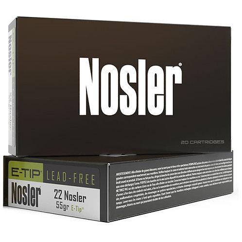 Nosler 40140 E-Tip 22 Nosler 55 gr E-Tip Lead-Free 20/Box