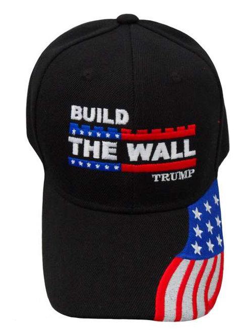 Build The Wall Trump w/ Flag Cap