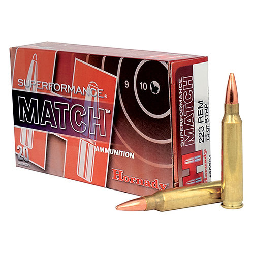 Hornady Superformance Match 223 Rem 75 gr Boat Tail Hollow Point Match 20/Box