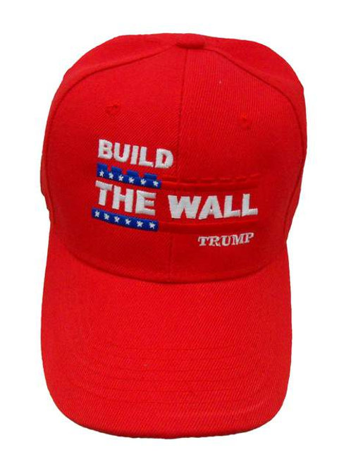 Build The Wall Trump Cap - Red