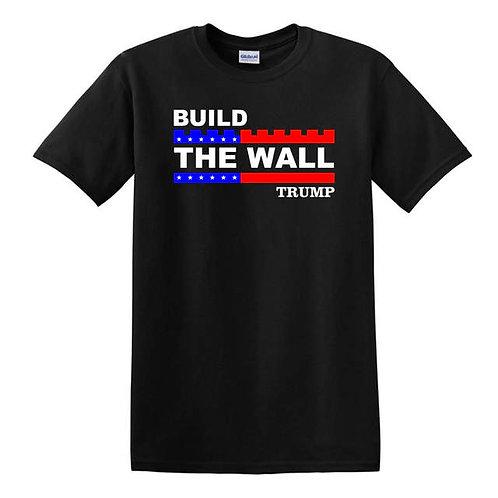 Build The Wall Trump T-Shirt - Black