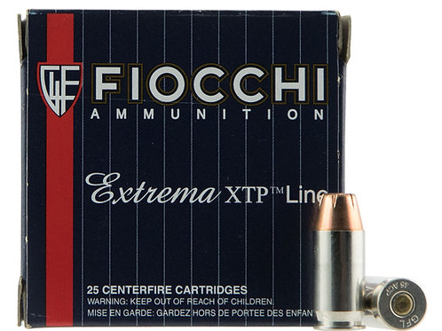 Fiocchi 45XTP25 Extrema 45 ACP 230 gr Jacketed Hollow Point (JHP) 25/Box