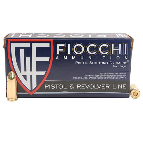 Fiocchi 9APB Shooting Dynamics 9mm Luger 124 gr Full Metal Jacket (FMJ) 50/Box