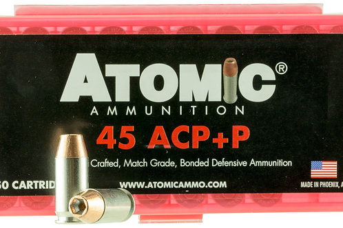 Atomic 00412 Pistol 45 ACP +P 185 gr Bonded Match Hollow Point 50/Box