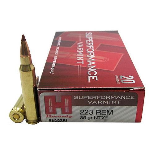 Hornady 83266 Superformance Varmint 223 Rem 35 gr NTX 20/Box