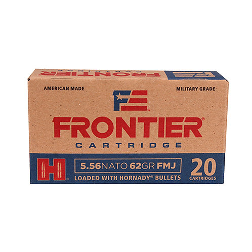 Frontier Cartridge FR260 Rifle 5.56 NATO 62 gr Full Metal Jacket (FMJ) 20/Box