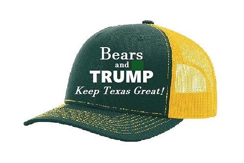 Bears and Trump Adjustable Mesh Cap