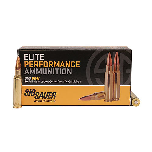 Sig Sauer E223B120 Elite Performance 223 Rem 55 gr Full Metal Jacket 20/Box