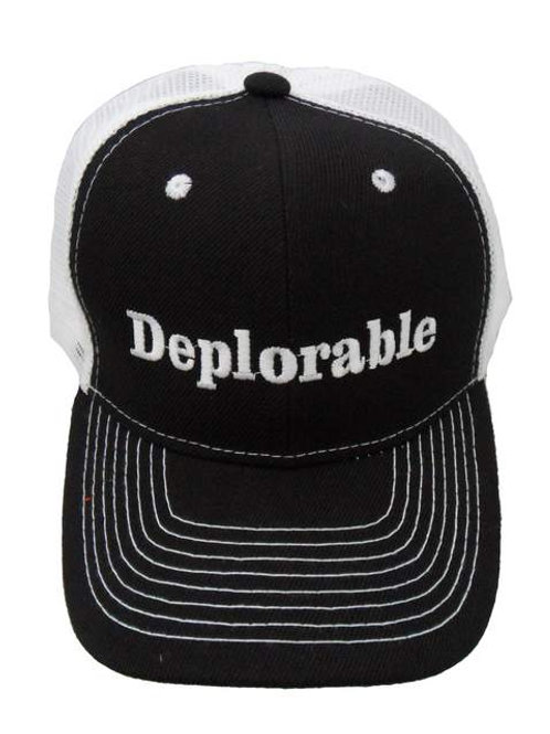 Deplorable Mesh Cap - Black/White