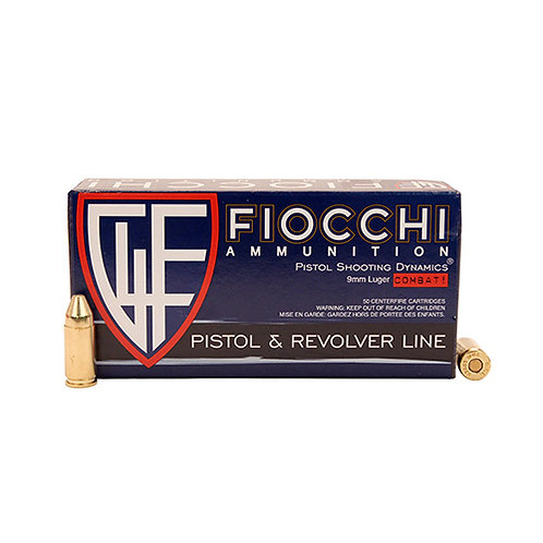 Fiocchi Shooting Dynamics 9mm Luger 124 gr Full Metal Jacket Truncated-Cone 50/B