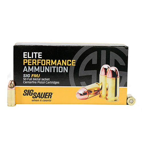 Sig Sauer E9MMB250 Elite Ball 9mm Luger 124 gr Full Metal Jacket (FMJ) 50/Box