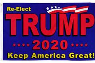 Trump 2020 Red/Blue 3x5ft Flag