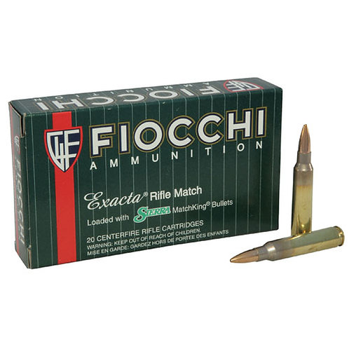 Fiocchi 223MKD Exacta Match 223 Rem 77 gr Boat Tail Hollow Point (BTHP) 20/Box