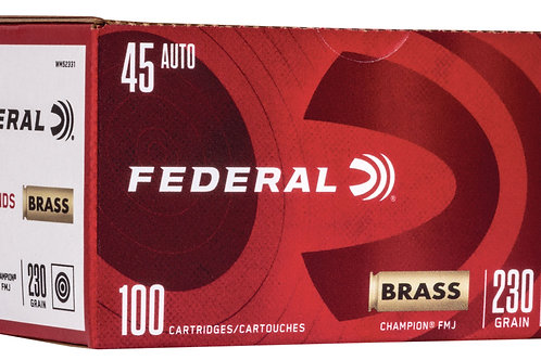 Federal WM52331 Champion Training 45 ACP 230 gr Full Metal Jacket (FMJ) 100/Box