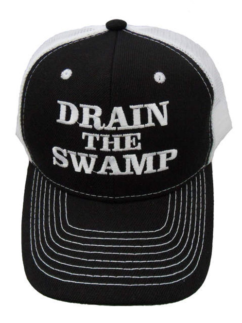 Drain the Swamp Mesh Cap - Black/White