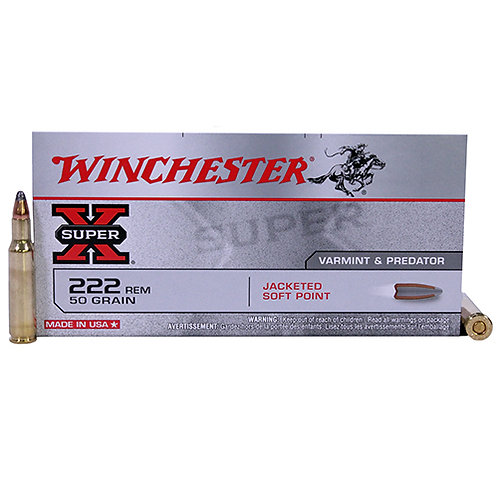 Winchester Ammo X222R Super-X 222 Rem 50 gr Pointed Soft Point (PSP) 20/Box