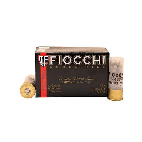 "Fiocchi 12HV4BK Exacta 12 Gauge 2.75"" 27 Pellets 4 Buck Shot 10/Box"