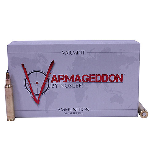 Nosler 65125 Varmageddon 221 Rem Fireball 40 gr Flat Base Tipped (FBT) 20/Box