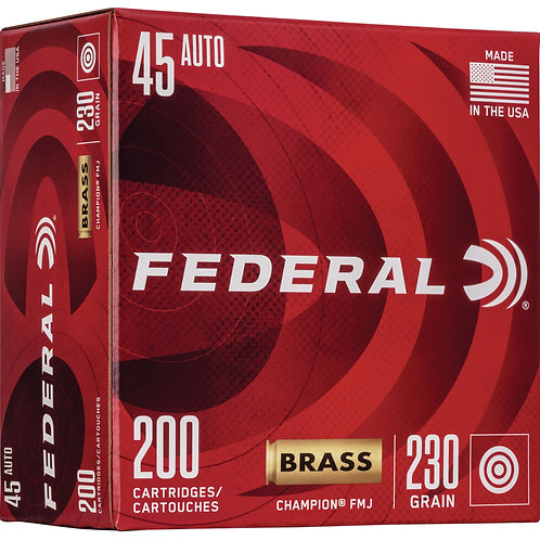 Federal WM52332 Champion Training 45 ACP 230 gr Full Metal Jacket (FMJ) 200/Box