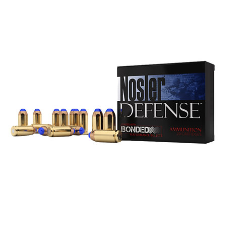 Nosler 37151 Defense 9mm Luger +P 124 gr Bonded Tipped 20/Box