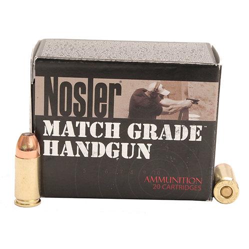 Nosler 51285 Match Grade 9mm Luger 115 gr Jacketed Hollow Point (JHP) 20/Box