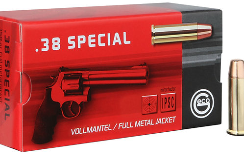 GECO 271640050 Pistol 38 Special 158 GR Full Metal Jacket (FMJ) 50/Box