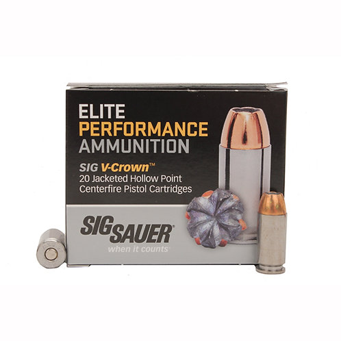 Sig Sauer E40SW120 Elite V-Crown 40 S&W 165 gr Jacketed Hollow Point JHP 20/Box