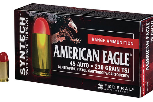Federal American Eagle 45 ACP 230 gr Total Syntech Jacket Round Nose 200/Box