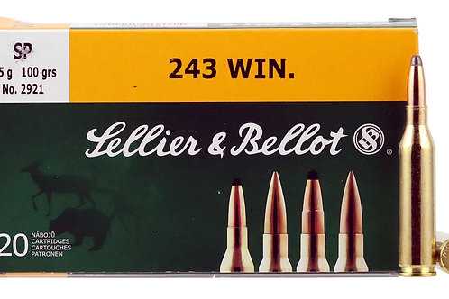 Sellier & Bellot SB243A Rifle 243 Win 100 gr Soft Point (SP) 20/Box