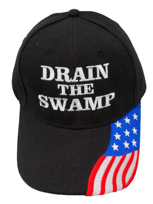 Drain the Swamp w/ Flag Bill Cap
