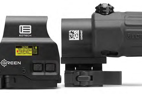 Eotech HHSGRN Holographic Hybrid Sight 1x 68 MOA Ring/2 1 MOA Green Dot Black