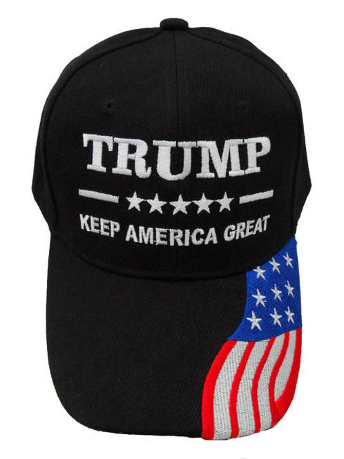 Trump Keep America Great Cap - Black / White Mesh