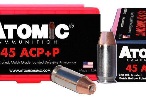 Atomic 00433 Pistol 45 ACP +P 230 gr Bonded Match Hollow Point 50/Box