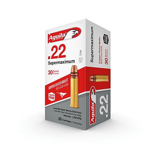 Aguila 1B222298 Special Supermaximum 22 LR 30 gr Solid Point 50/Box
