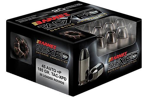 Barnes Bullets 21555 TAC-XPD 45 ACP +P 185 gr Barnes TAC-XP Lead Free 20/Box