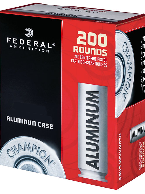 Federal CAL45230200 Champion Training 45 ACP 230 gr Full Metal Jacket 200/Box